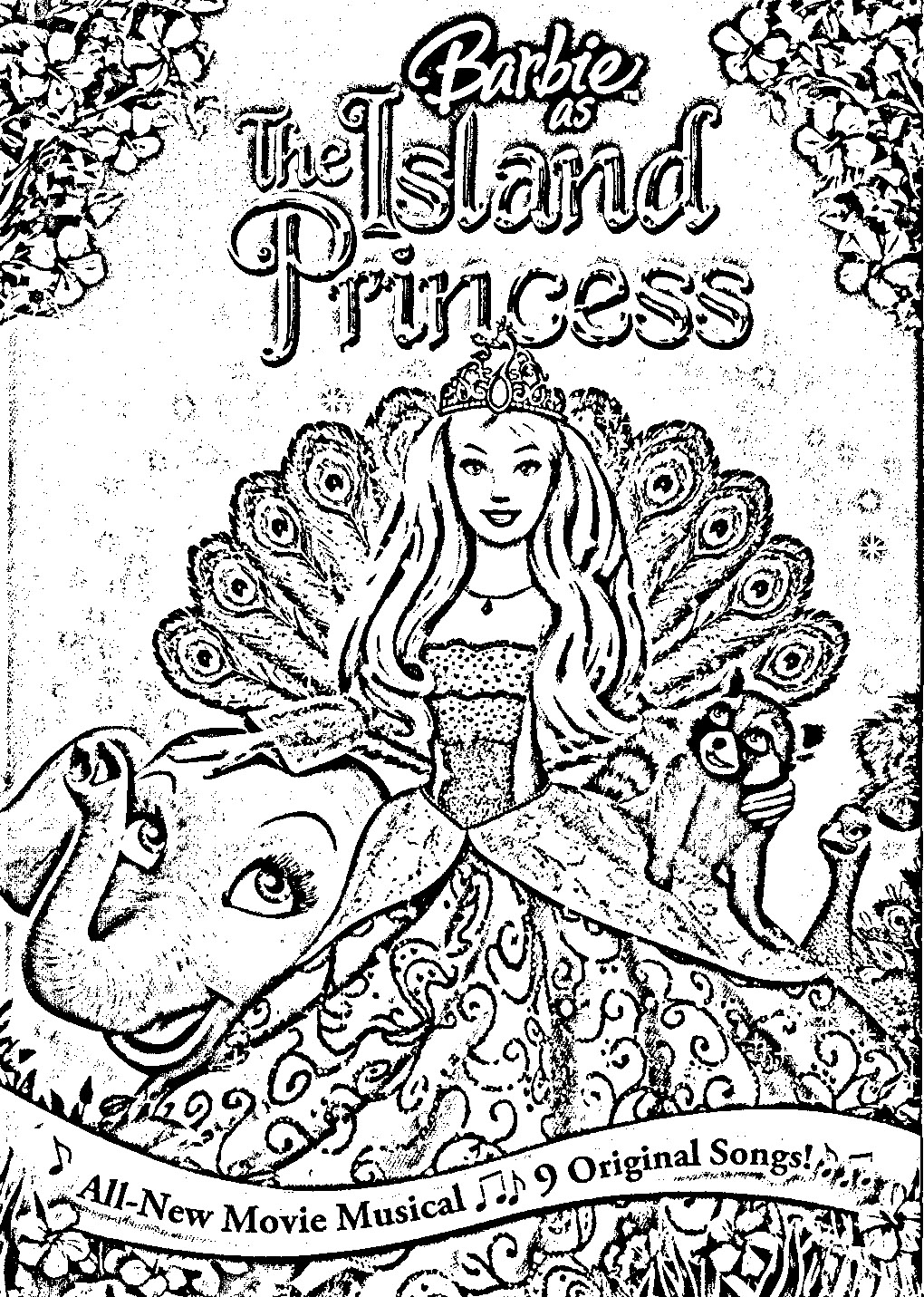 Barbie as The Island Princess Color Pages 4
