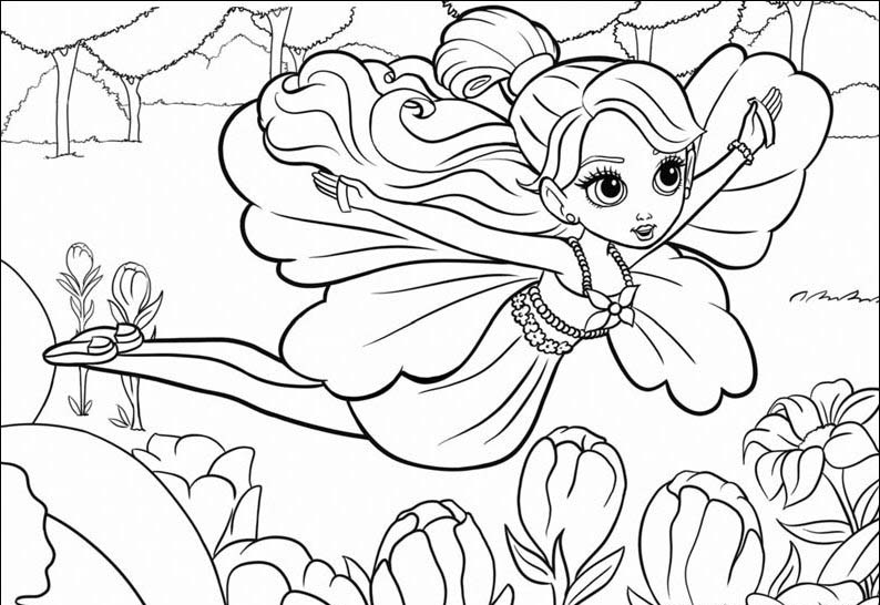 Barbie Thumbelina Color Pages 10