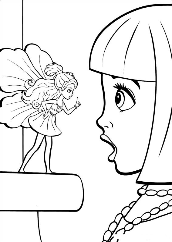 Barbie Thumbelina Color Pages 5