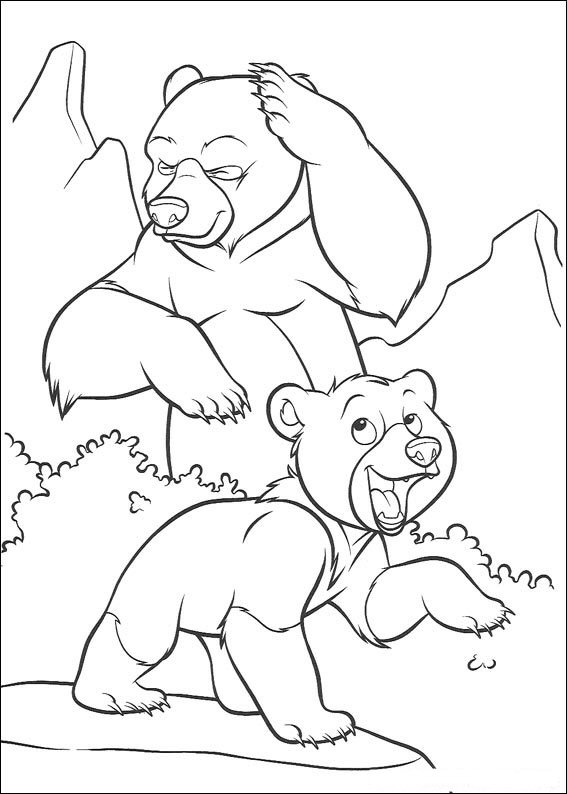 Brother Bear Color Pages 6