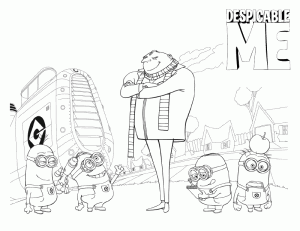 Despicable Me Color Pages 7