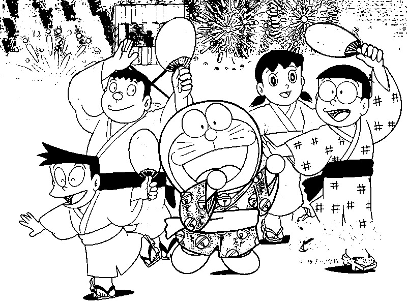 Doraemon Color Pages 6