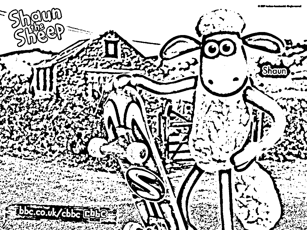 shaun the sheep color pages