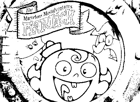 The Marvelous Adventure of Flapjack Color Pages 1