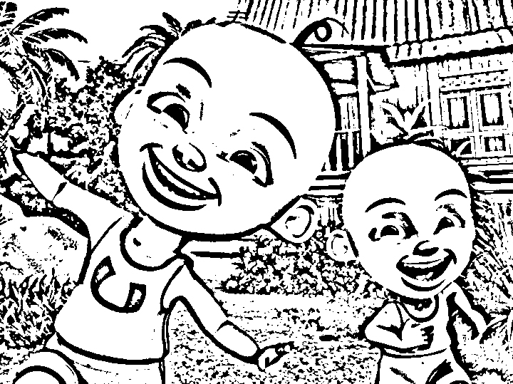 Upin Ipin Color Pages 1