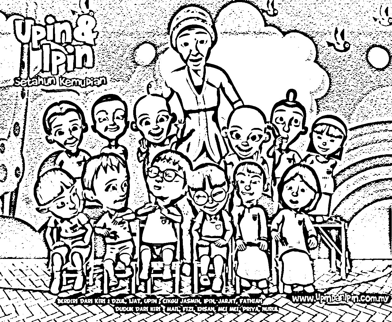 Upin Ipin Color Pages 7