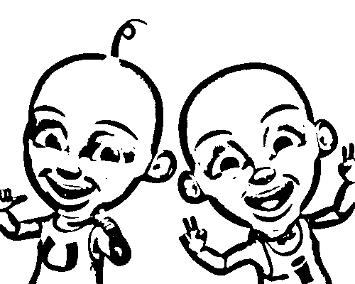 Upin Ipin Color Pages 9